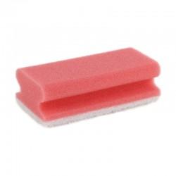 Sanitairspons rood/wit met...