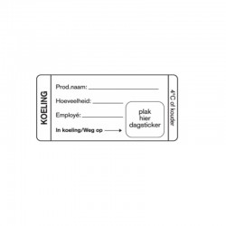 HACCP Koeling Label